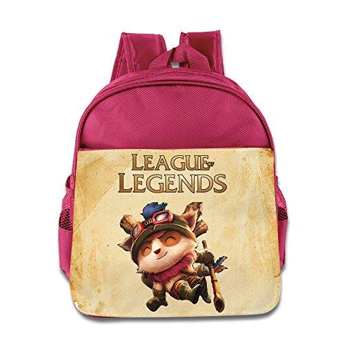 Huma League Legend Tee Mo Unisex School Bookbag Backpack Pink