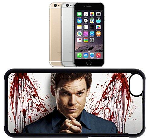 Cas de l'iPhone 6. Plastique noir avec High Gloss Imprime Inserer - Dexter Blood