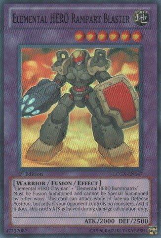 Elemental HERO Rampart Blaster LCGX-EN047 1st Yu-gi-oh