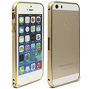 Areion Fashion Luxury Gold Metal Aluminum Bumper Frame Case Cover For iPhone 5/5S Gold