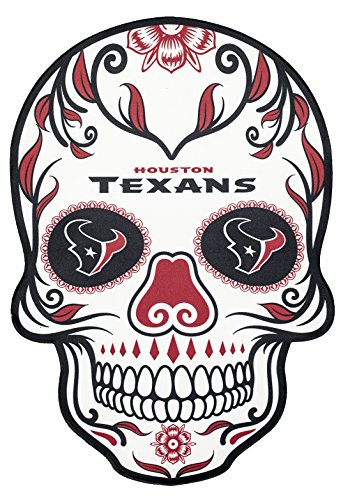 Applied Icon NFL Houston Texans Outdoor Small Dia De Los Muertos Skull Decal