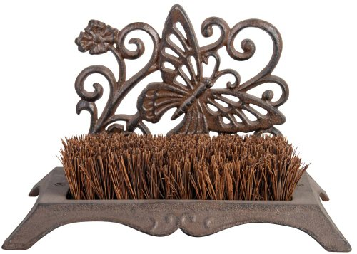 Miscellaneous Butterfly Design Cast Iron Boot Brush