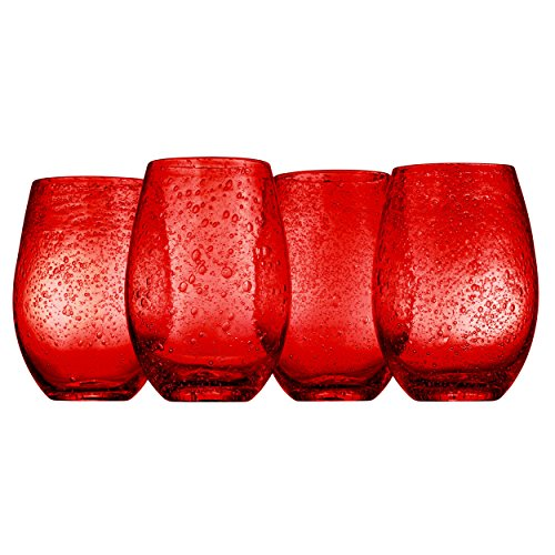 Red Swirl Glass - 9