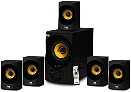 Acoustic Audio AA100 Home Theater 100.10 Bluetooth Speaker System 10W with  Powered Sub