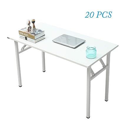 DlandHome - Mesa plegable para ordenador, color blanco, 1 unidad ...