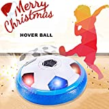#6: Air Hover Ball, IRISGOD Girl Boy Toys, Air Cushion Floating Disk Football 2-in-1 Kids Christmas Gifts with Mini Screwdriver, Foam Bumpers and Colorful LED Lights for Indoor & Outdoor Soccer Sport