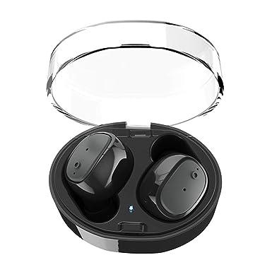 Bluetooth Auriculares, asmotim Wireless Dual Auriculares estéreo con caja de carga Micrófono V4.2