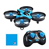 JJRC H36 MINI Drone 2.4G 4CH 6Axis Gyro Headless Mode CF Mode One Key Return RC Quadcopter RTF with REDPAWZ Clean Cloth (Blue)
