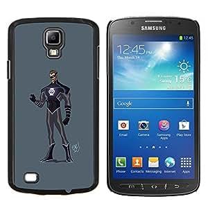 """Be-Star Único Patrón Plástico Duro Fundas Cover Cubre Hard Case Cover Para Samsung i9295 Galaxy S4 Active / i537 (NOT S4) ( Superhero Costume Negro púrpura Máscara Hombre"""" )"""