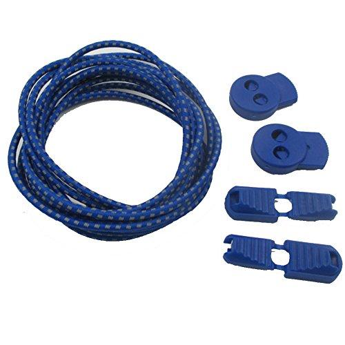 aiyuda 2pares de la corredora reflectante elástica no Tie cordones sistema de cierre elástico encaje Lock para correr senderismo Naranja naranja Talla:talla única Azul - Sapphire Blue