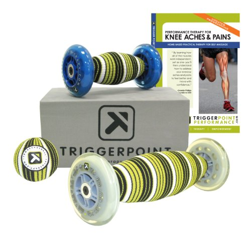 Trigger Point Performance Self-Myofascial Release and Deep Tissue Massage Kit for Knee Ache and Pain with DVD