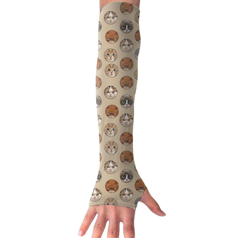 Unisex Cat Head Sunscreen Outdoor Travel Arm Warmer Long Sleeves Glove