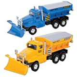 snow truck - Die Cast Snow Plow Truck (Sold Individually - Colors Vary)