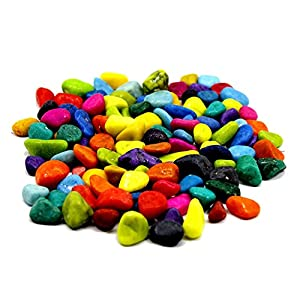 Adhiran Multi-color Home, Garden and Aquarium Decor pebbles