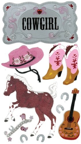 Jolee's Boutique Cowgirl Stickers - Cowgirl Decal Sticker