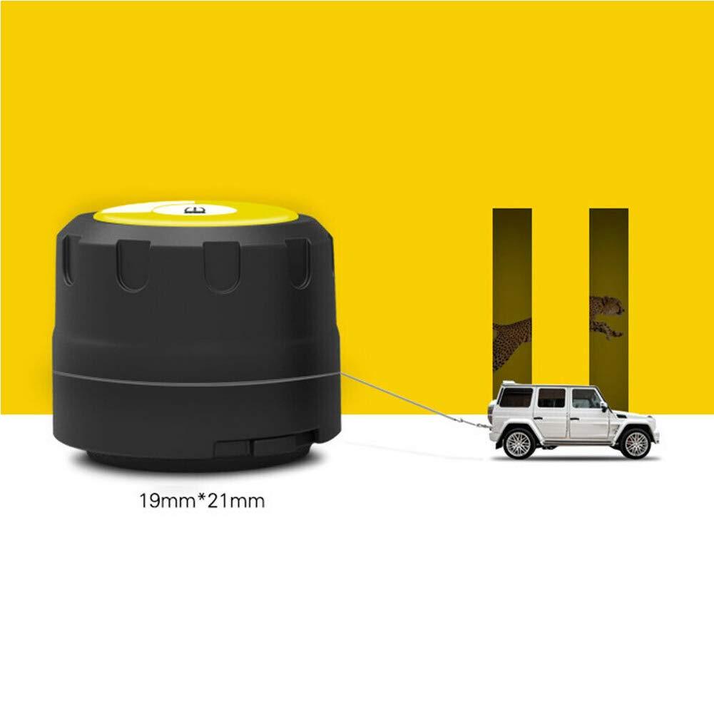Monitor de presi/ón de neum/áticos de autom/óvil Alarma de Advertencia Bluetooth 4.0 TPMS Sistema de monitoreo de presi/ón de neum/áticos 4 sensores externos con Llave