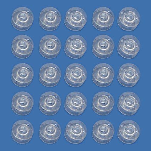 SODIAL (R) 25 freie Plastik Naehmaschine Spulen Passend Singer Bruder Janome Toyota