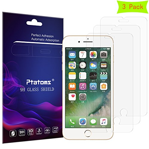 iPhone 7 Plus 6S Plus 6 Plus Screen Protector Glass Ptatoms Tempered Glass Screen Protector for Apple iPhone7Plus 6Plus - Glass To Scratches Remove Can Polished Be