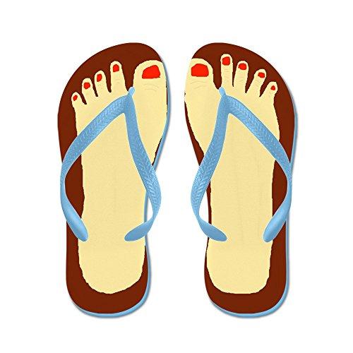 Cafepress Lelijke Voeten - Flip Flops, Grappige String Sandalen, Strand Sandalen Caribbean Blue