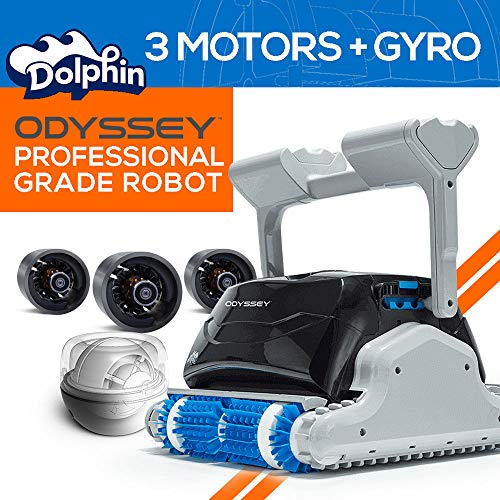 (Dolphin Odyssey Commercial Robotic Pool Cleaner with Gyro and Triple Motors)
