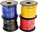 GS Power 14 Gauge Ga 4 Color Pack in 100 FT Roll (400 Feet Total) Copper Clad Aluminum CCA Primary Wire. for Trailer Harness Car Audio Amplifier Remote Wiring (Also Available in 6 & 10 Color Pack)