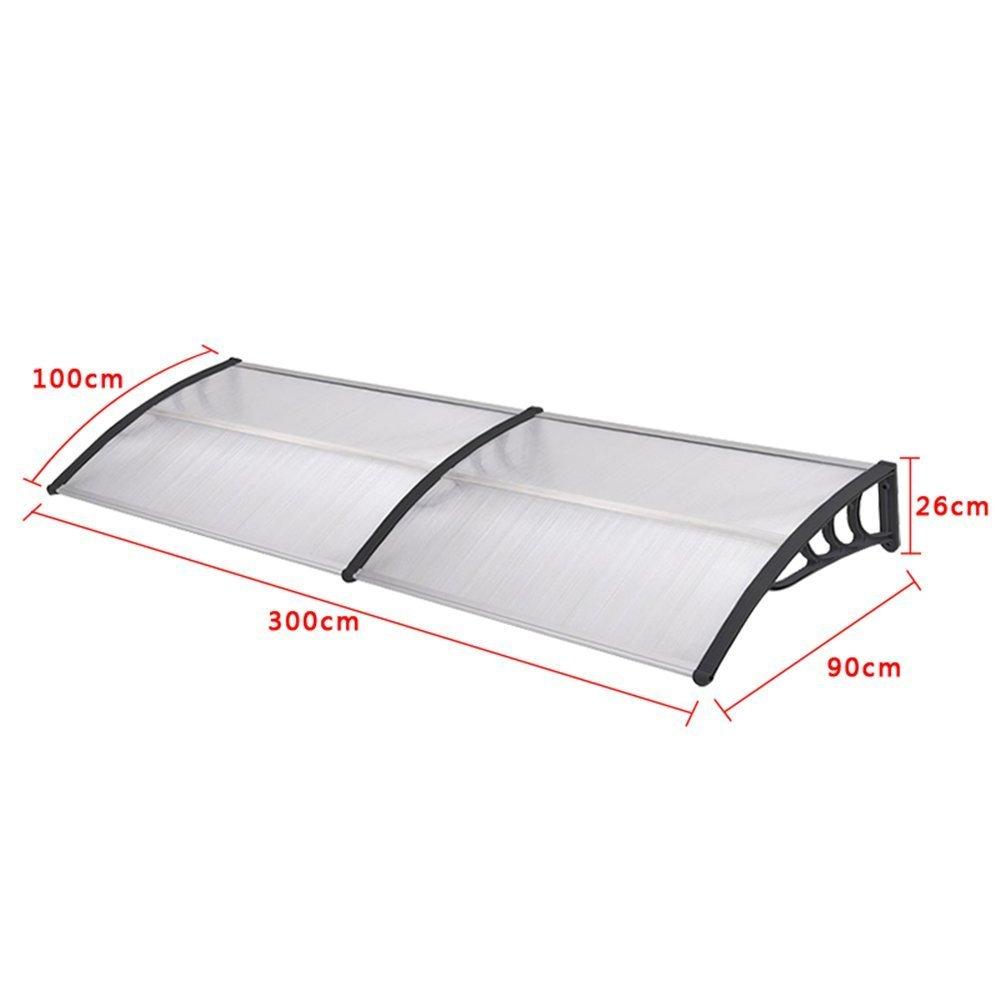 Negro SAILUN 150 x 90 cm marquesina puerta exterior toldo impermeables exterior marquesina sol