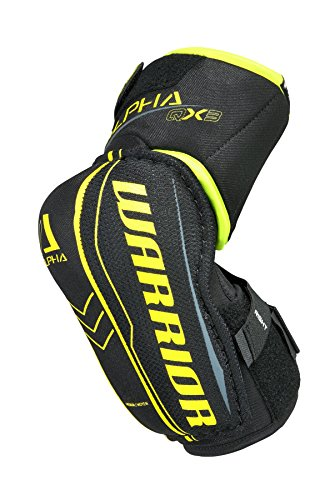 Warrior QX3EPJR7 QX3 Jr Elbow Pad, Black/Yellow, Large (Pads Elbow Warrior)