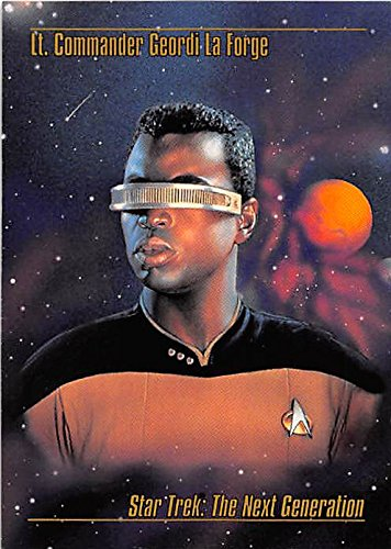 (Geordi la Forge trading card Star Trek Master Series 1993 Skybox #13 LeVar Burton)