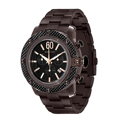 Glam Rock Men's GR33109 SoBe Chronograph Black Dial Watch