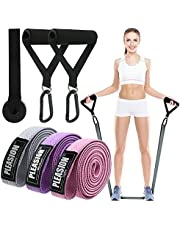 PLEASION Long Resistance Bands Set , Fabric Pull Up Bands for Exercise, Full Body Assistance Bands for Women & Men, Power Band for Workout & Weight Training,Stretching,Warm Up & Mobility Workout