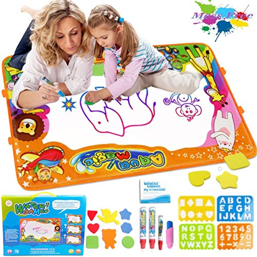 PrimeIRIS Large Aqua Magic Pad 1 8 Accessories Color with Water Doodle Mat for Kids Girls Boys No Mess Coloring Painting for Toddlers Educational Gift Toys for Children Many Colors Reveal