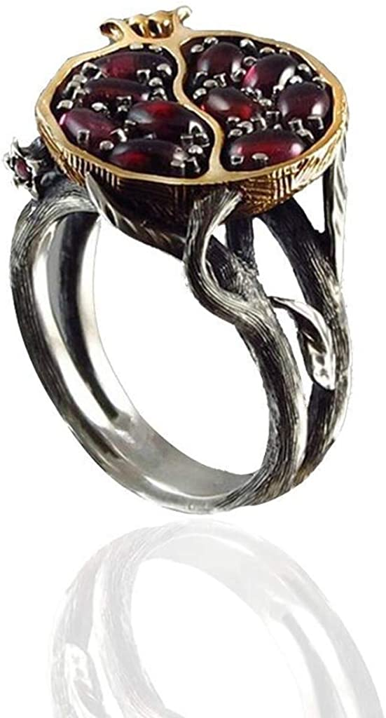 Dragon ring Wire wrap jewelry Garnet ring Red dragon
