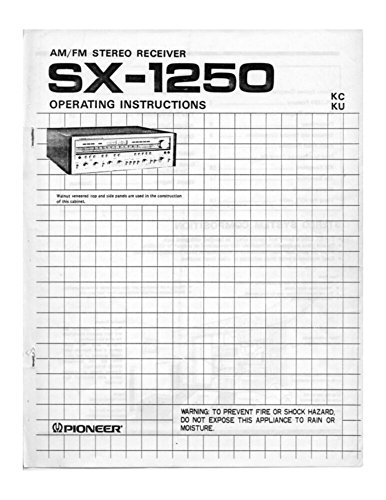 Photo Pioneer SX-1250 Receiver Owners Manual [Plastic Comb] [Jan 01, 1900] Misc [Plastic Comb]