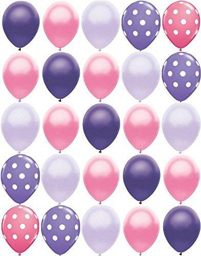 25ct-polka-dot-princess-mix-pearl-purple-pink-11-latex-party-balloons