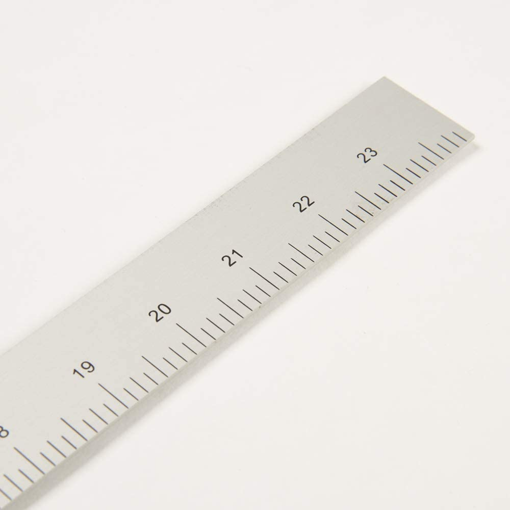 DIHAN #5324A 12 24 Inch Two Sided L-Square Metal Measuring Solid Aluminum Vary Form Tailor Fashion Design Ruler French Curve Garment Ruler Tailoring Ruler Pattern Making Ruler
