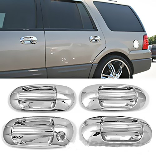 MaxMate 03-12 Lincoln Navigator/03-13 Ford Expedition Chrome 4 Doors Handle Cover W/O Passenger Side Keyhole