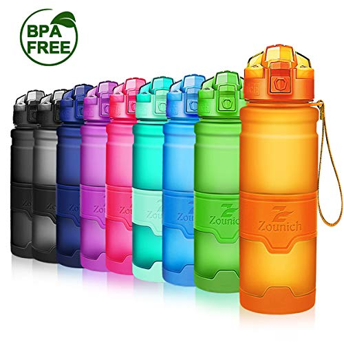 Premium Sports Water Bottle 32 oz/1 Liter, 24 oz, 16 oz, 14 oz, BPA Free Tritan for Kids, Reusable & Leak Proof & Measured, Plastic Drink Bottle, for Bike, Running, Camping, Gym, Fitness, Cycling