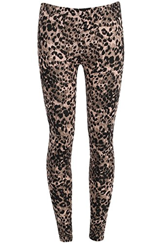 Ladies Girls Celebrity Inspired Animal Print Leggings USA Size 6-12 (M/L (USA 10-12), Animal - Cheetah Snake Print