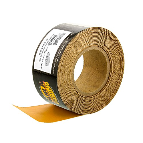 Dura-Gold - Premium - 400 Grit Gold - Longboard Continuous Roll 20 Yards Long by 2-3/4