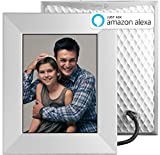 "Nixplay W08E- Silver Iris 8"" Wi-Fi Cloud Digital Photo Frame with IPS Display, iPhone & Android App, iOS Video Playback, Free 10GB Online Storage, Alexa Integration and Activity Sensor, Silver"