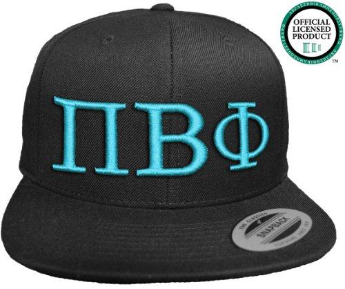 JTshirt.com-19605-PI BETA PHI Flat Brim Snapback Hat Turquoise Letters / Pi Phi Angels | Sorority Cap-B00EVF6JGO-T Shirt Design