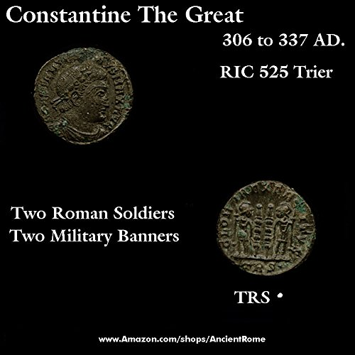 Type Scarce (330 DE Constantine The Great. Scarce Type. Military Standards. 330 AD. Roman Empire Coin. Bronze Good)