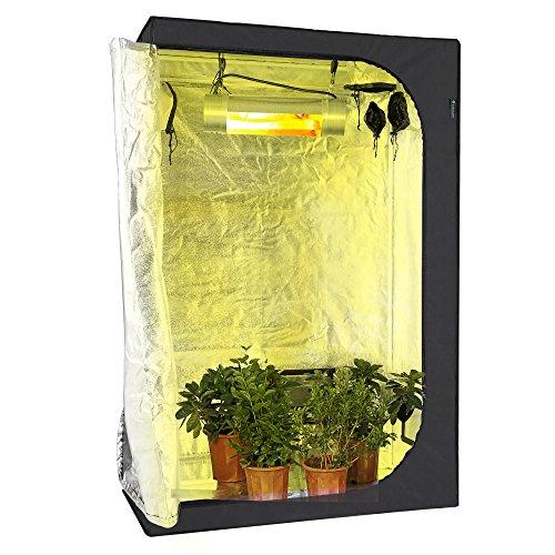 Idaodan 48x24x72 inch mylar hydroponic indoor grow tent for Indoor gardening reflective material