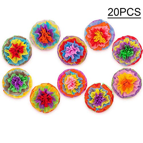 Cinco De Mayo Decorations Fiesta Mexican Tissue Pom Paper Flowers Party Supplies 20PCS -