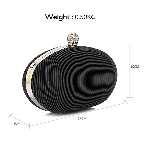 Bag Design Box Design Women New Pleated Handbag 1 Luxury Look Black Evening Designer Ladies Hardcase Clutch 557FqwrxO
