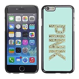 PC/Aluminum Funda Carcasa protectora para Apple Iphone 6 pink gold glitter bling mint green / JUSTGO PHONE PROTECTOR