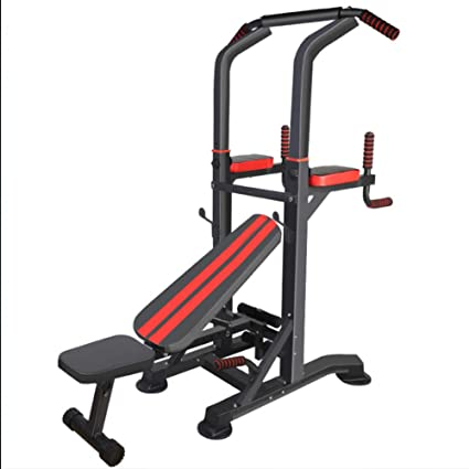 Barre de traction ajustable Dips station Chaise romaine Station musculation red