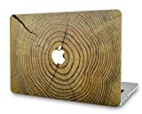 KECC Laptop Case for MacBook Air 13' Plastic Case Hard Shell Cover A1466/A1369 (Cracked Wood)