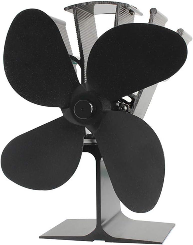 ONGLOLH Ventilador De Quemador De LeñA Ventiladores De EnergíA TéRmica 4 Aspas Funcionamiento Silencioso Utilizado para LeñA/Estufa/Chimenea Eficiente del Calor,Black-135 * 108 * 223mm