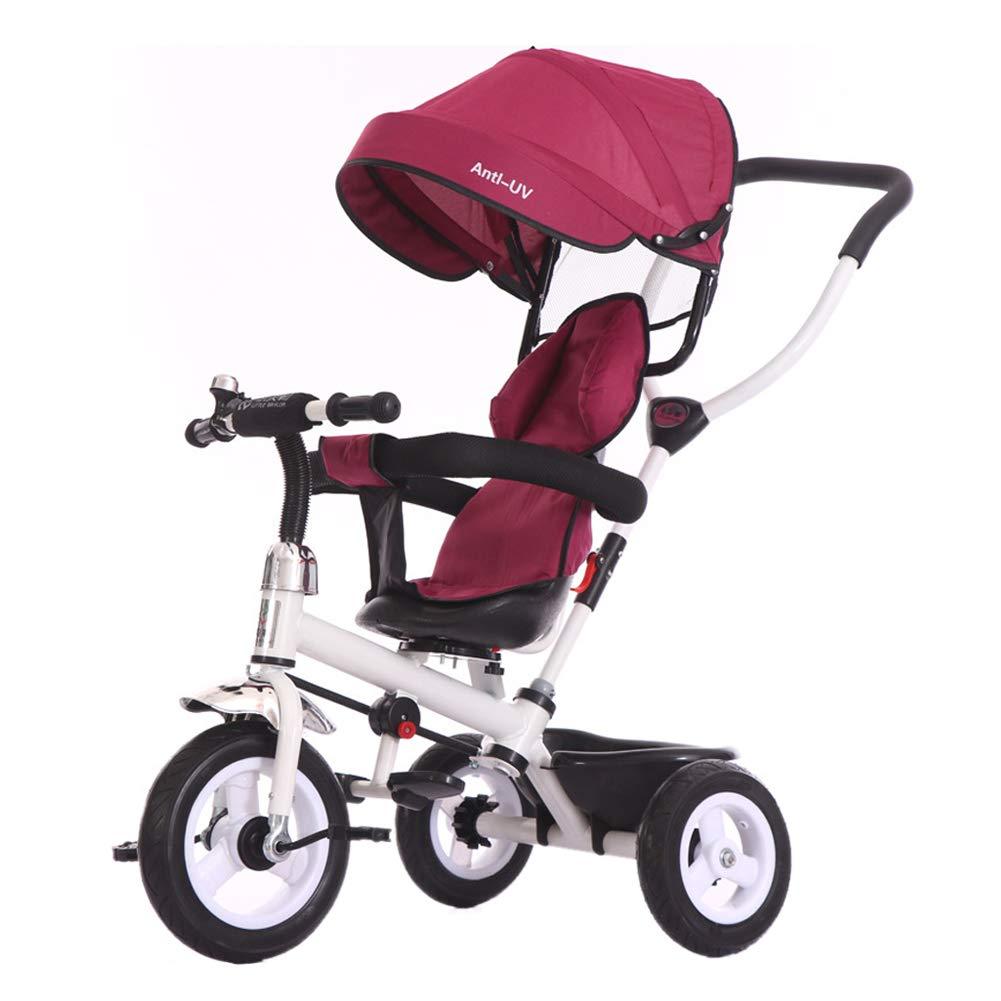 si/ège pivotant Chariots /à v/élo pour Enfants Tricycle Parent 4 en 1 pour Enfants auvent Ajustable poussettes 1-3-5 pour b/éb/és Poussette Trike Convertible